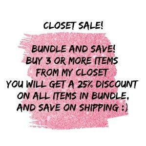 Closet Sale!!!